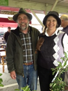 Ron and Suzanne at the Ashe County Farmers' Market, West Jefferson, North Carolina